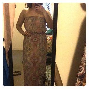 Beautiful full length strapless dress